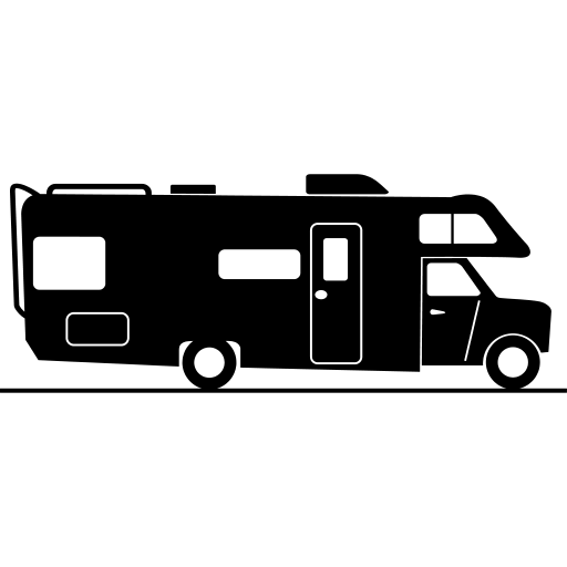 Rv clipart logo black and white download Motorhome Silhouette Clipart transparent PNG - StickPNG black and white download