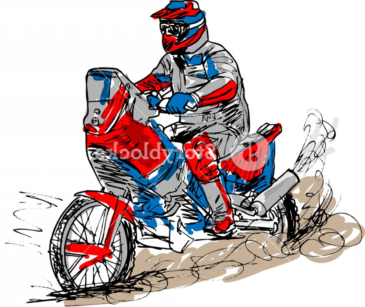 Rwu clipart vector freeuse download Sketch Of Motocross Bike Increase Speed In Track Vector ... vector freeuse download