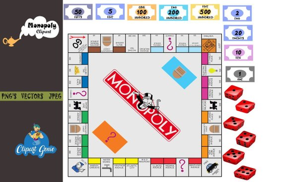 S board game clipart jpg freeuse stock DIY Monopoly, Monopoly board, Monopoly clipart, Monopoly ... jpg freeuse stock