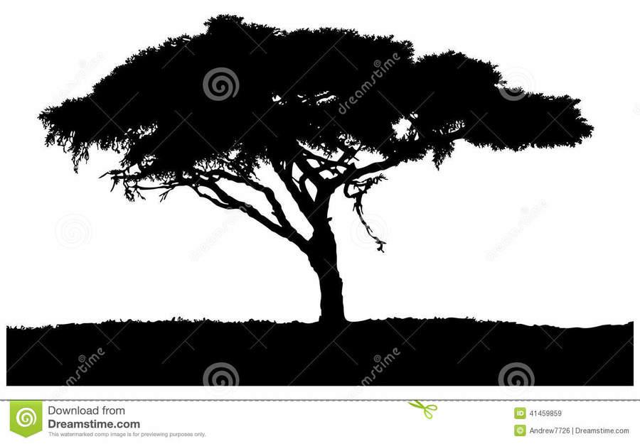Sabana clipart vector freeuse download Lion, Silhouette, Illustration, Elephants, Tree, Sky, Plant ... vector freeuse download