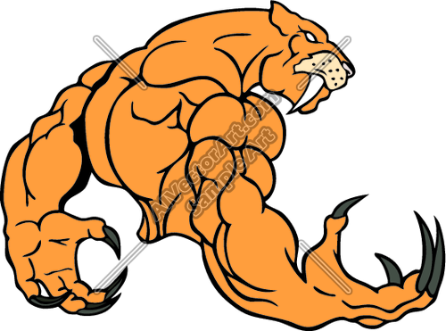 Sabercats clipart clip freeuse download sabercatmsct06 Clipart and Vectorart: Sports Mascots ... clip freeuse download
