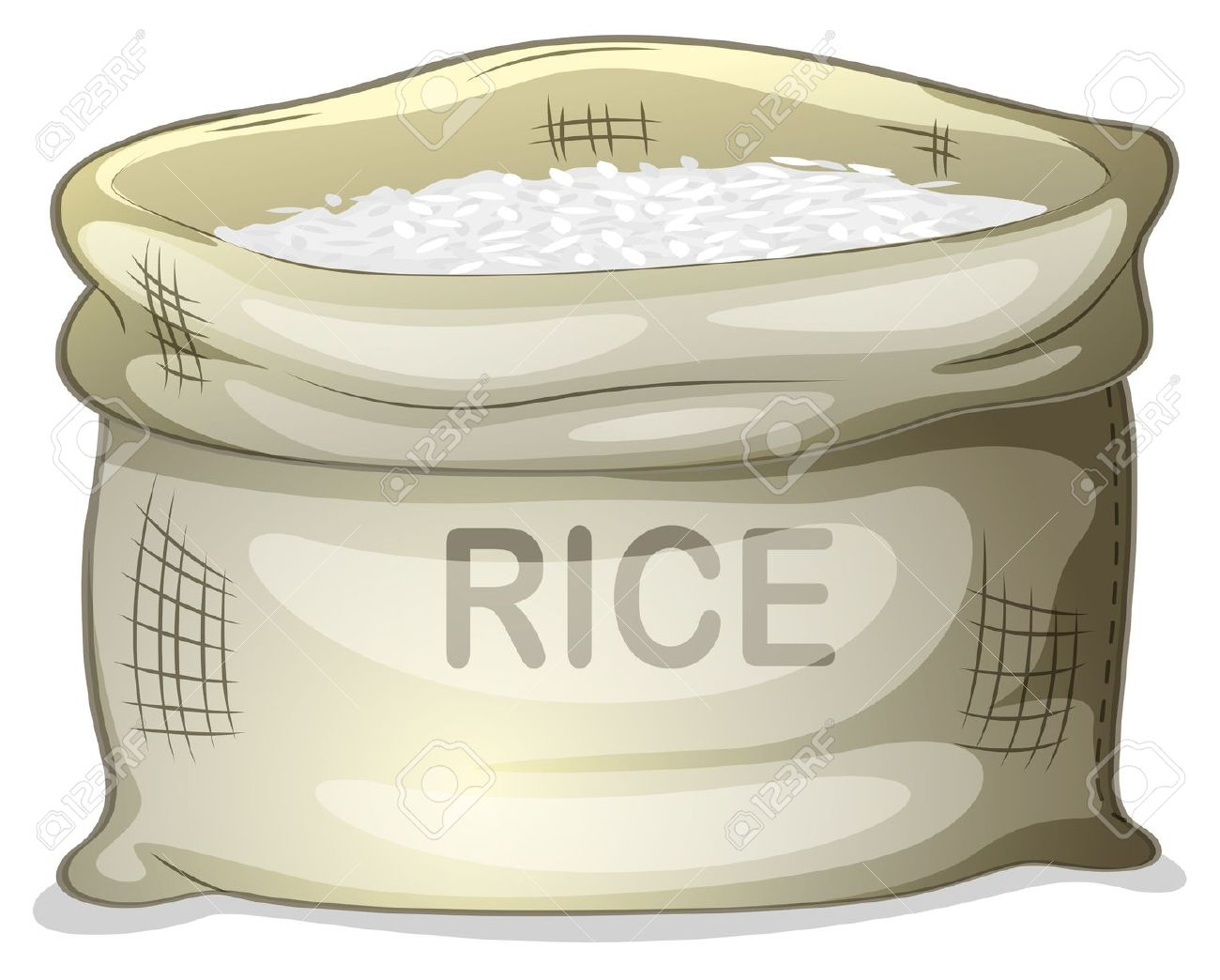 Sack of rice clipart vector black and white stock Sack of rice clipart 2 » Clipart Station vector black and white stock