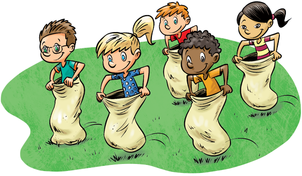 Sack race clipart graphic stock Potato sack race clip art clipart images gallery for free ... graphic stock