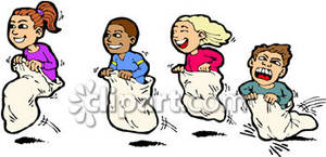 Sack race clipart png Boys and Girls Racing In a Sack Race Royalty Free Clipart ... png