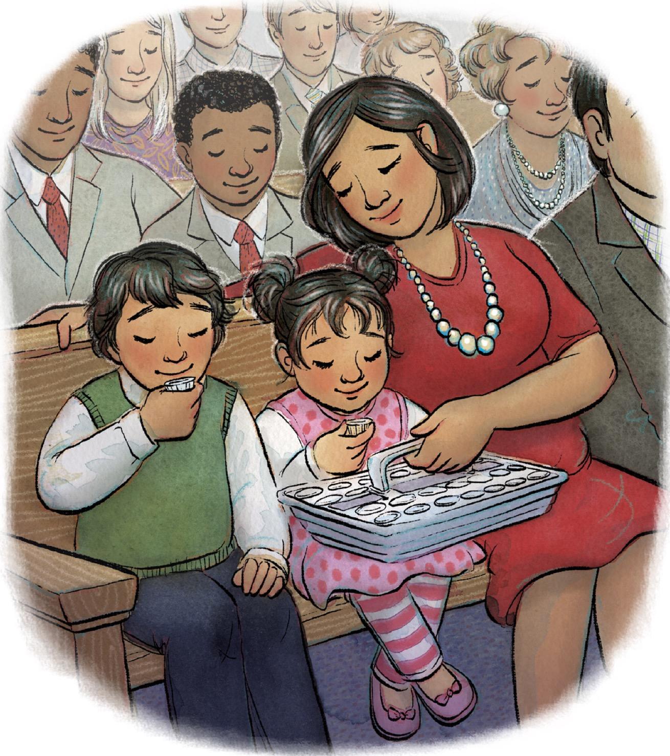 Sacramental covenamnts lds clipart clipart black and white stock Sacrament: Clipart - Teaching Children clipart black and white stock