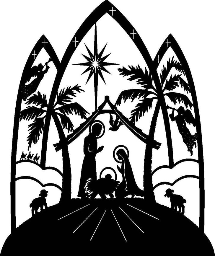 Sacred christmas clipart jpg freeuse Christmas Nativity Scene Religion Sacred PNG, Clipart, Black ... jpg freeuse