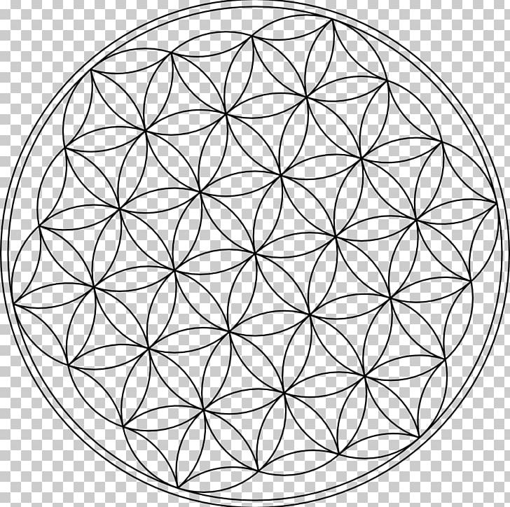Sacred geometry black and white clipart svg royalty free stock Overlapping Circles Grid Symbol Sacred Geometry PNG, Clipart ... svg royalty free stock