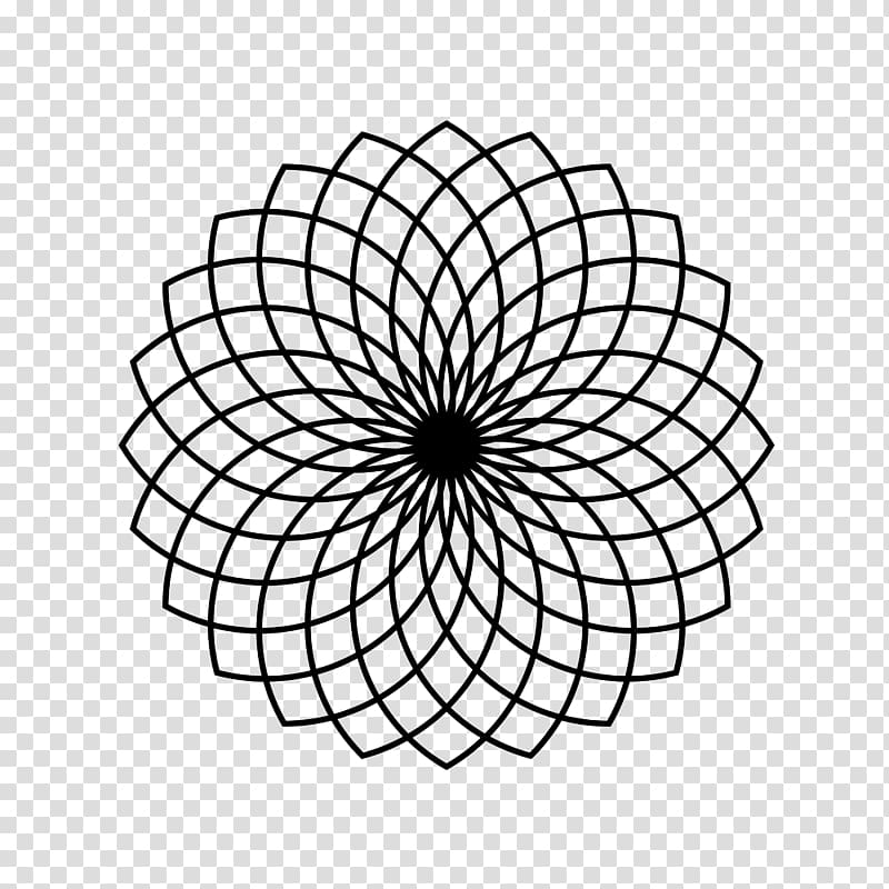 Sacred geometry black and white clipart picture free library Sacred geometry Circle Pattern, circle transparent ... picture free library