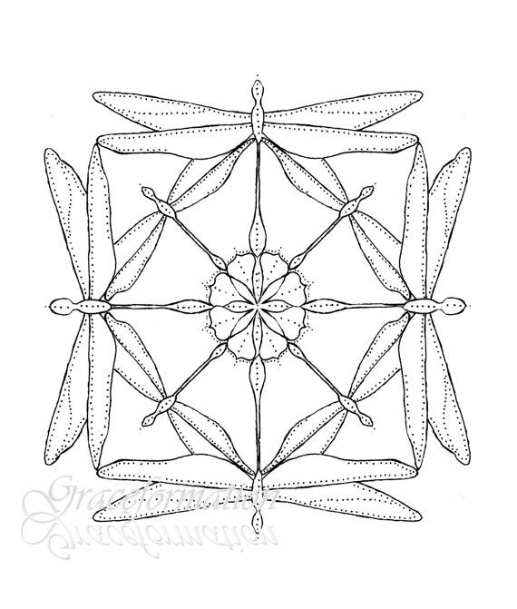 Sacred geometry clipart clip black and white stock Dragonfly Mandala, Sacred Geometry, Original Artwork, Wall ... clip black and white stock