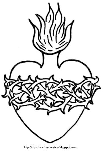 Sacred heart christian clipart banner transparent library The Sacred Heart Symbols | Christian Clip Art Review banner transparent library