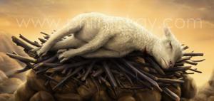 Sacrificial lamb clipart picture stock Sacrificial Lamb Clipart picture stock