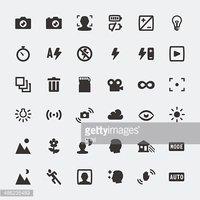 Sacudir la lampara clipart clip art free Vector Cámara Funciones Mini Iconos Conjunto vectores en ... clip art free