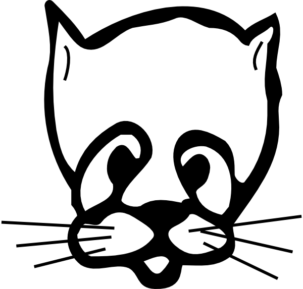 Sad Cat Face Drawing Clip Art at Clker.com - vector clip art online ... clipart transparent download
