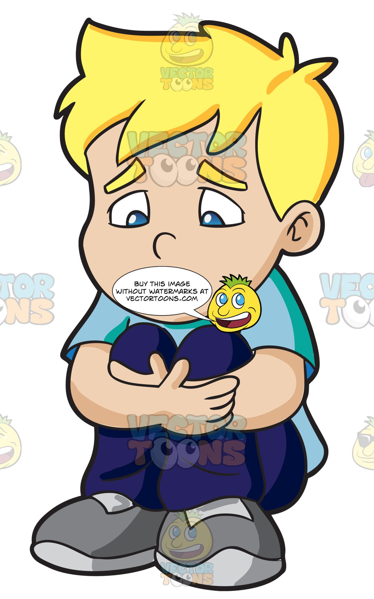 Sad boy with flowers clipart clip art library A Sad Boy Making Himself Feel Small clip art library