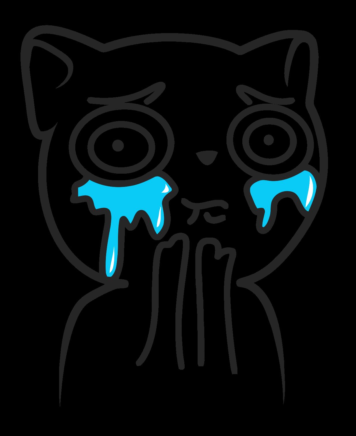 Sad Cat Face Cartoon - Cute Cat 2018 clipart transparent stock