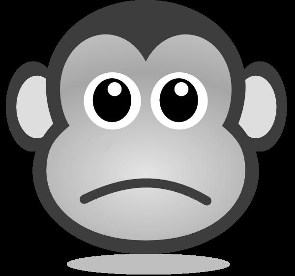 Sad Monkey Clipart - ClipartBlack.com svg freeuse stock