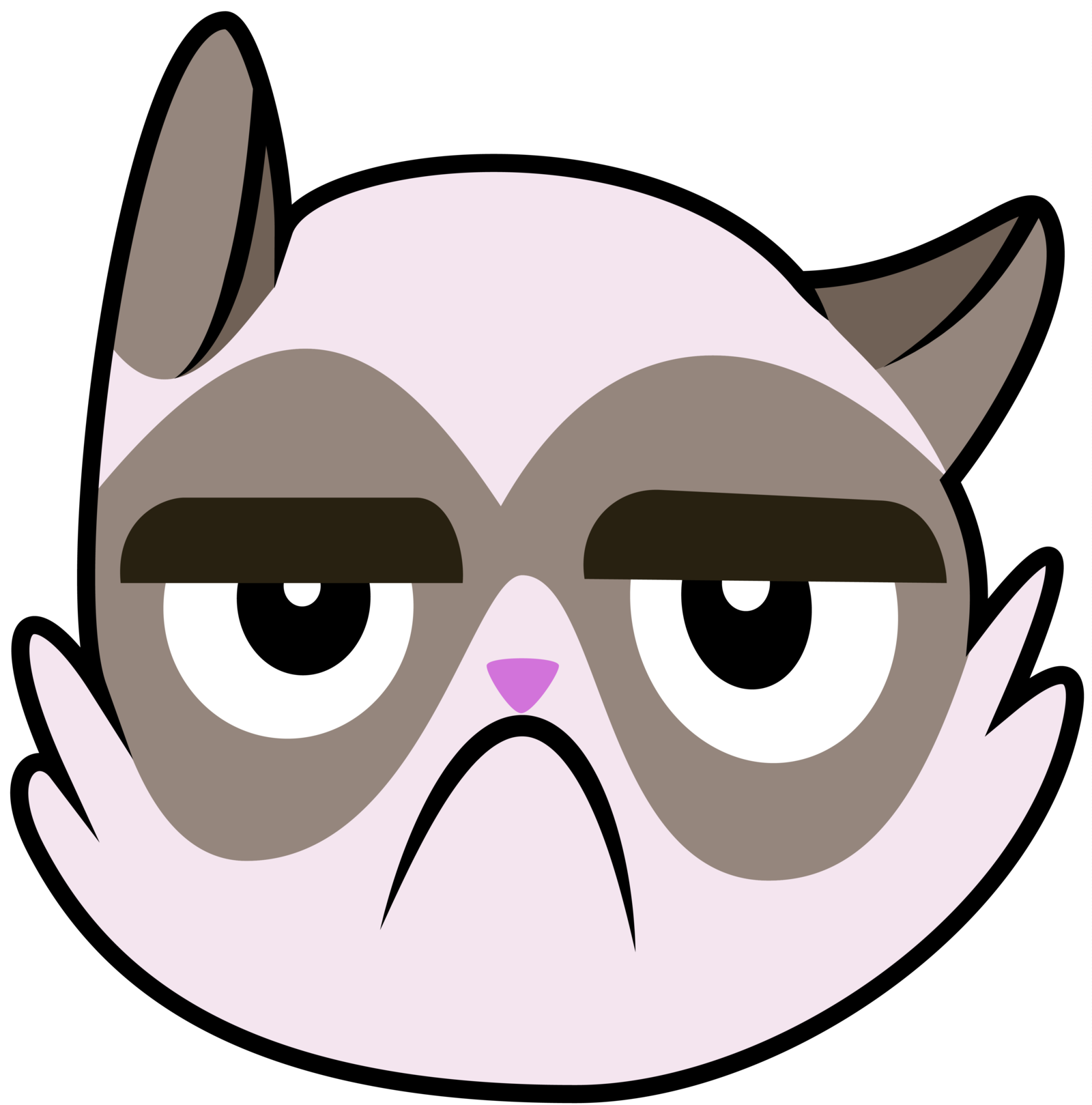 Sad cat face clipart graphic free 28+ Collection of Grumpy Cat Clipart | High quality, free cliparts ... graphic free