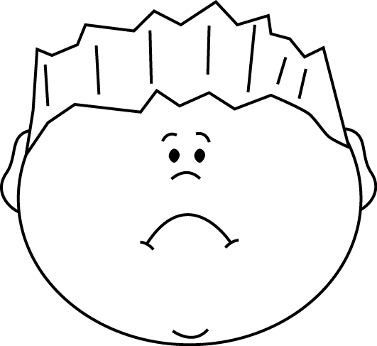 Sad clipart black and white black and white download Black and White Sad Face Boy | Clipart | Black, white ... black and white download