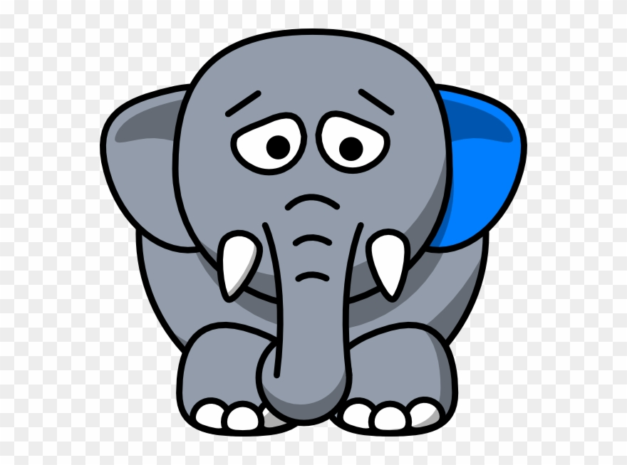 Sad clipart for picsart picture free stock Clipart Elephant Sad - Cartoon Elephant Sad - Png Download ... picture free stock