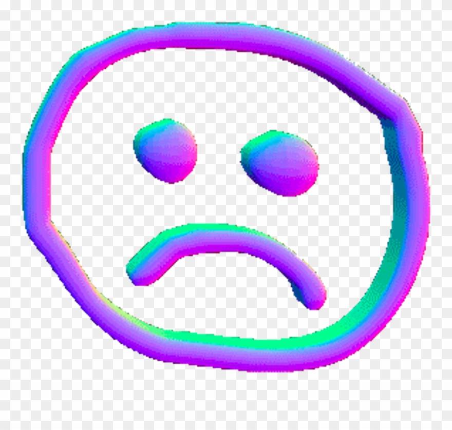 Sad clipart sticker png royalty free Sad Sticker - Aesthetic Sad Face Clipart (#3741588) - PinClipart png royalty free
