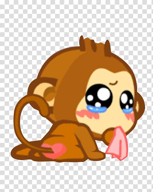 Sad clipart sticker graphic library Giphy Sticker Emoticon, Sad monkey transparent background ... graphic library
