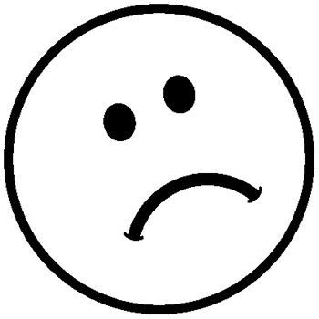 Sad face clipart black and white free stock Pin by Holly Grieve Allen on nursery song props | Emotion ... free stock