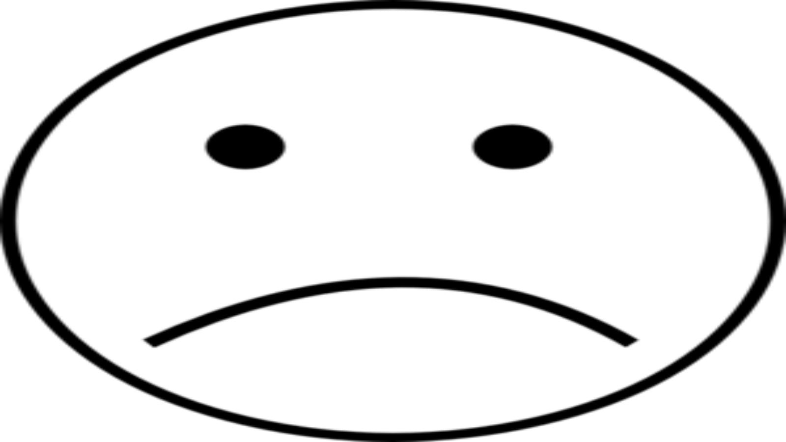 Sad face emoji clipart black and white image transparent stock Sad Face Black And White | Free download best Sad Face Black ... image transparent stock
