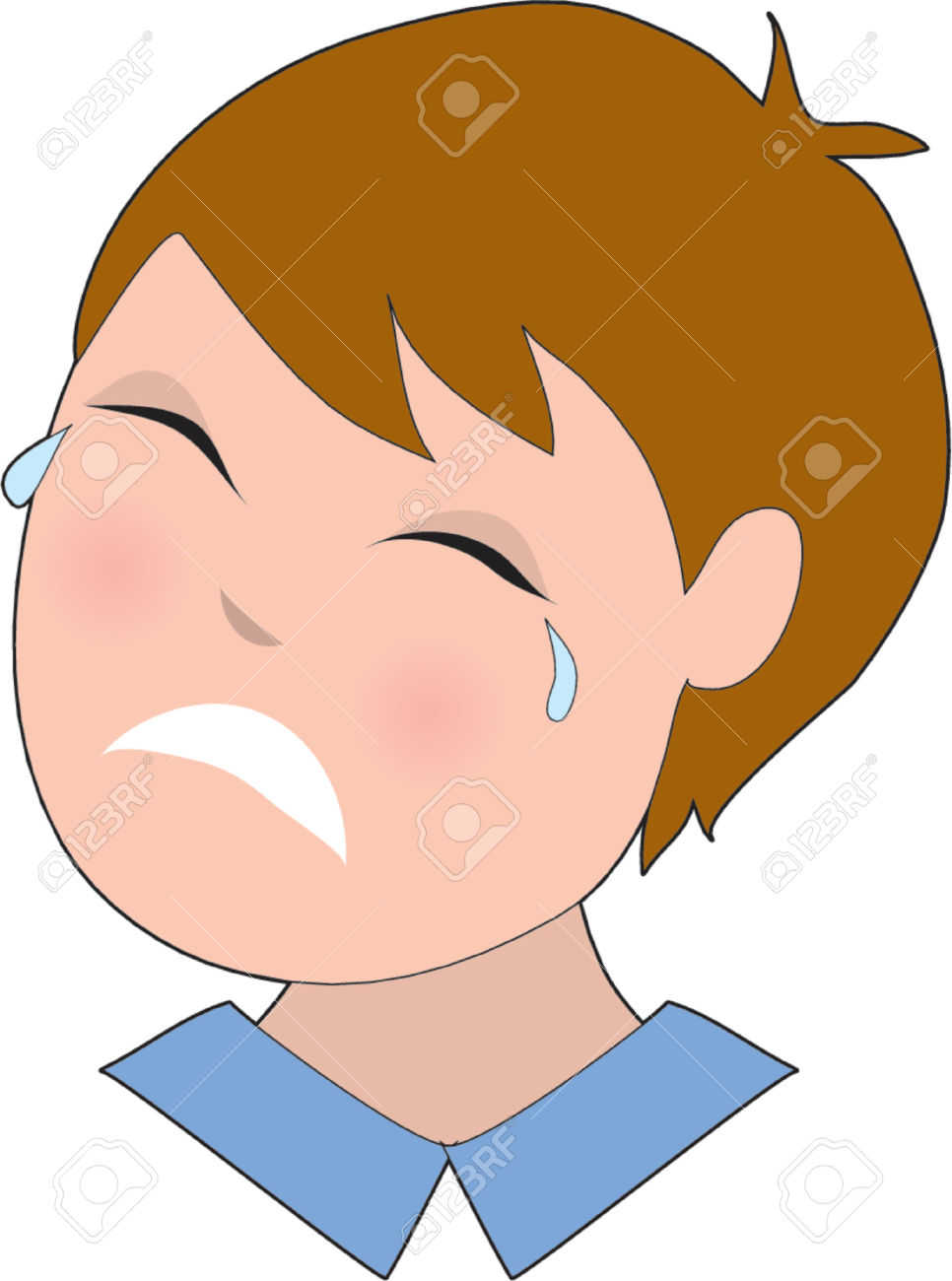 Sad face with tears clipart graphic royalty free library Sad Crying Face Clipart | Free download best Sad Crying Face ... graphic royalty free library