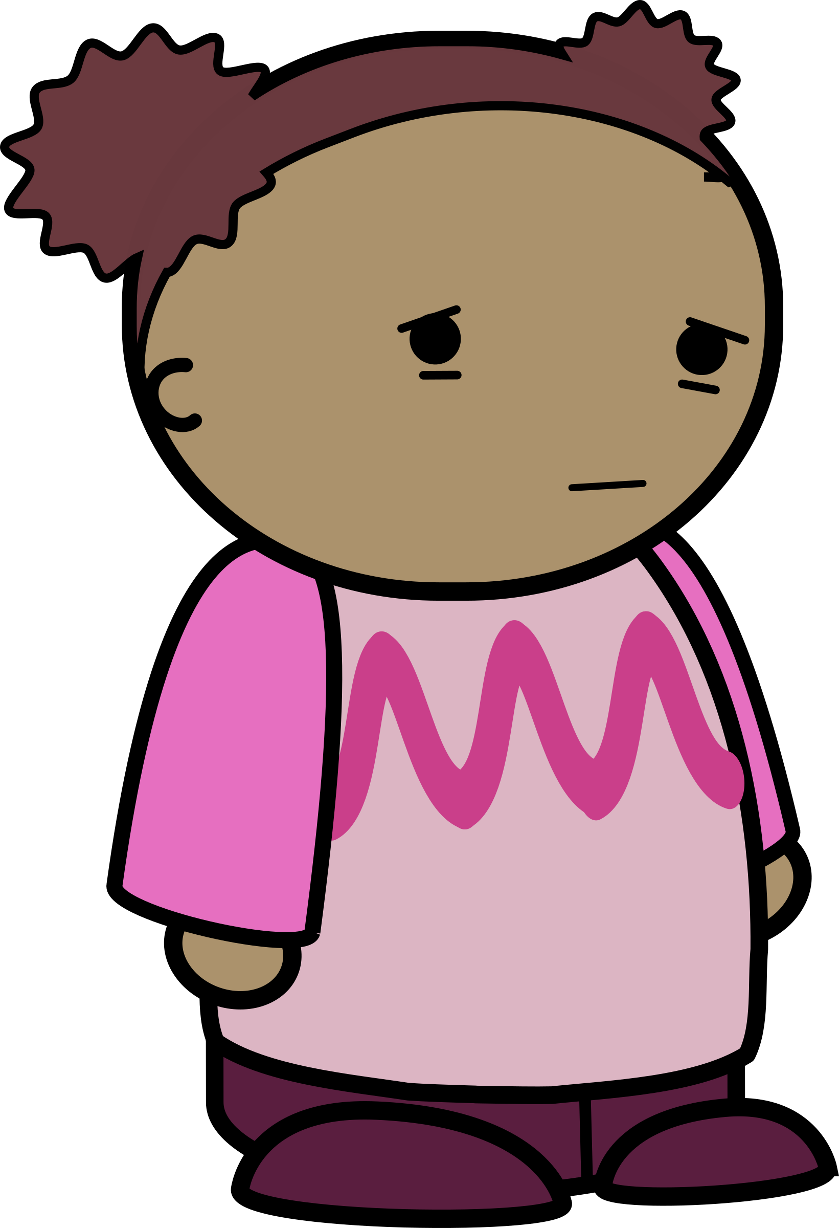 Clipart - mix and match character lily sad side transparent library