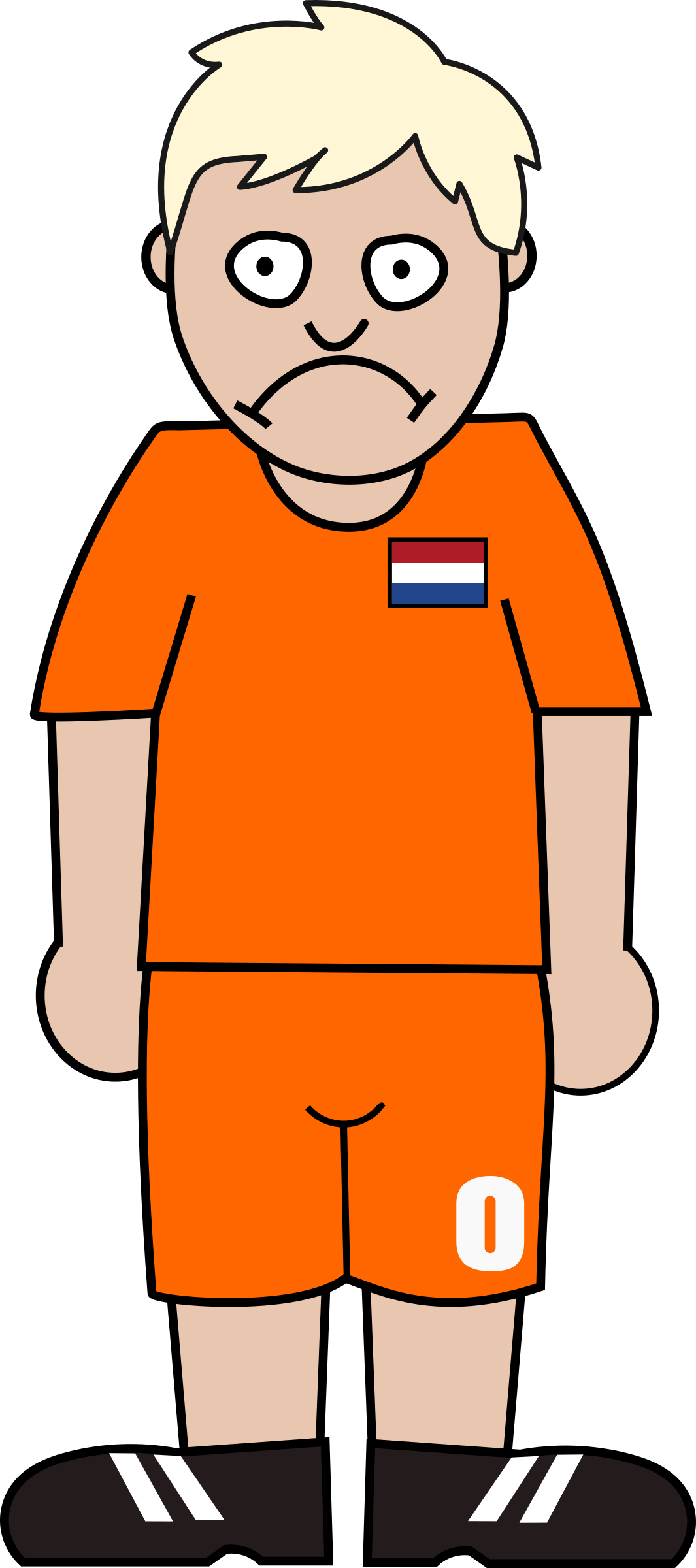 Clipart - Football player netherland royalty free