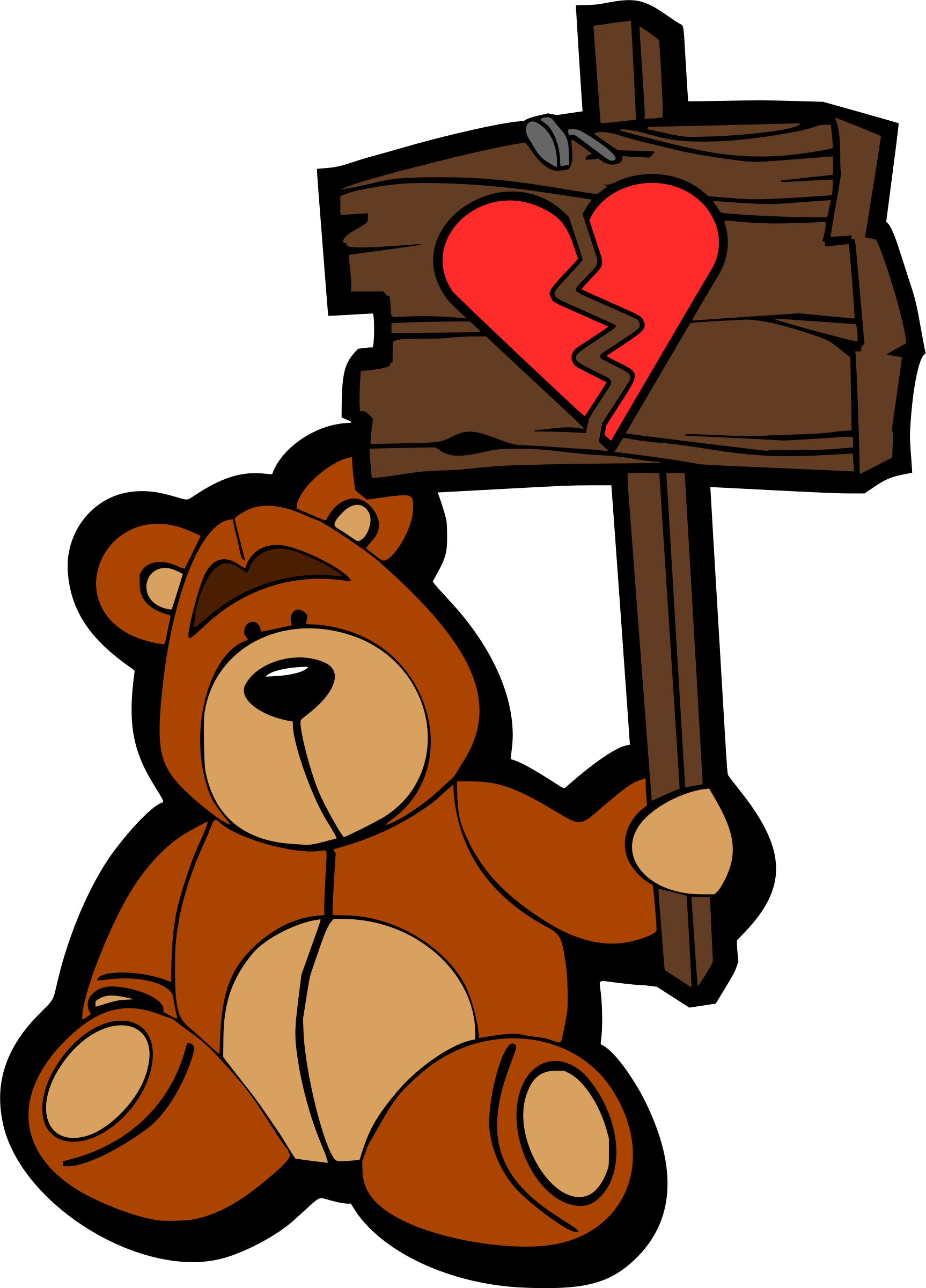 Sad heart clipart png freeuse library Clipart - Sad bear (colour) png freeuse library