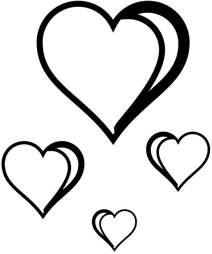 Hearts Images Black And White | Siewalls.co png download