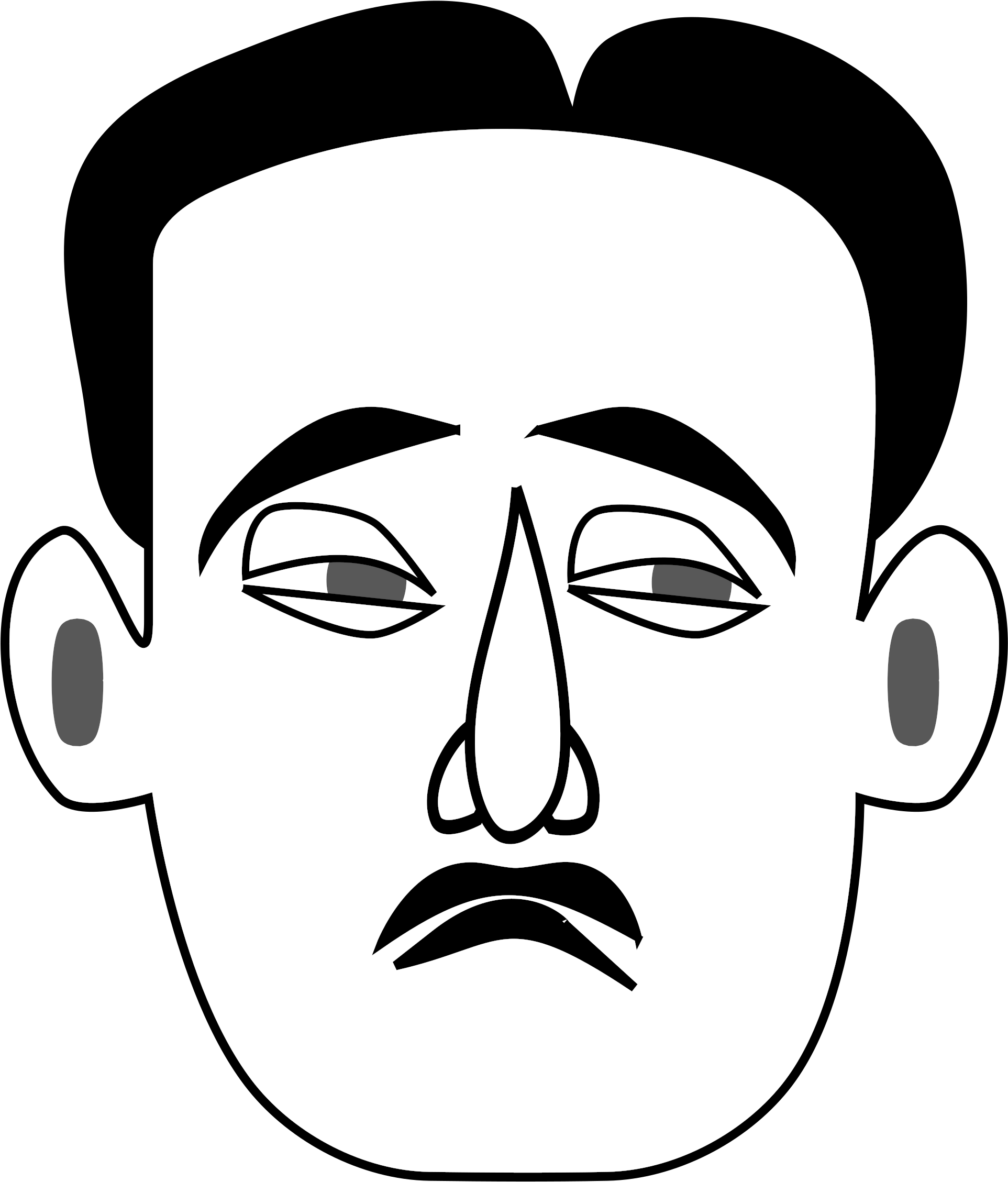 Sad man face clipart picture library stock Sad Face Clip Art Black And White - Sad Man Face Clipart ... picture library stock