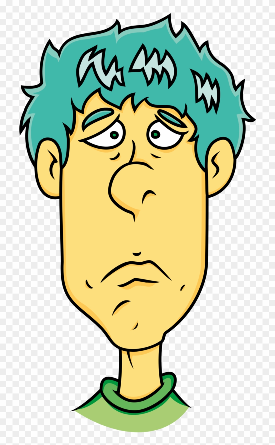 Sad man face clipart image free library Face Of Sad Man - Sad Man Face Cartoon Clipart (#109763 ... image free library