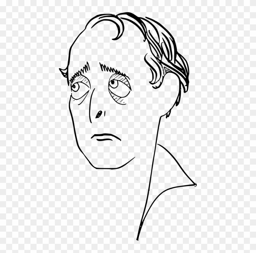 Sad man face clipart vector freeuse library Face Drawing Eye Line Art Smiley - Sad Man Clipart Black And ... vector freeuse library