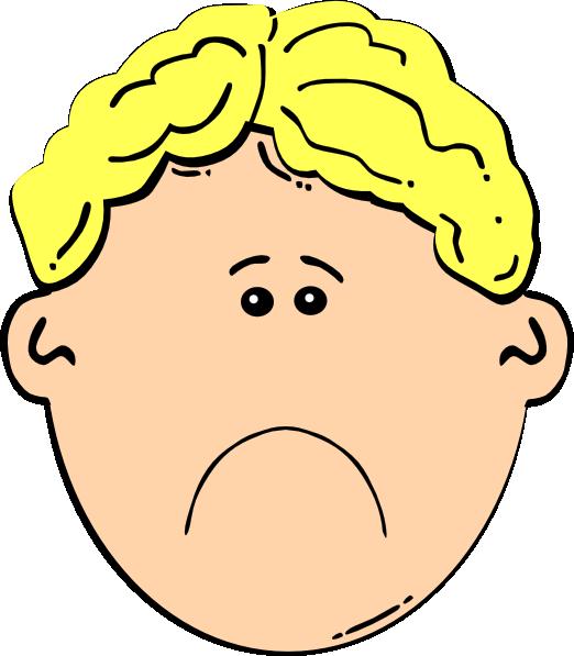 Sad man face clipart svg black and white stock Sad Boy Clip Art At Clker Com Vector Clip Art Online Royalty ... svg black and white stock