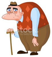 Sad old man clipart image library Clip Art of Sad, Old Man With Cane and Hunchback stock ... image library