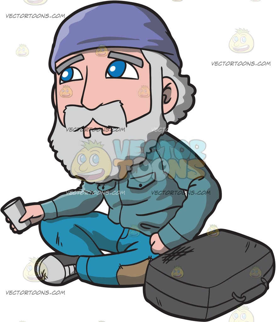 Sad old man clipart image free download A Sad Old Man Begging For Coins In The Str #306801 ... image free download