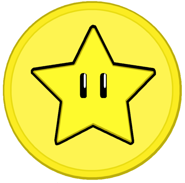 Sad star clipart png freeuse download File:Star coin.png - Wikimedia Commons png freeuse download