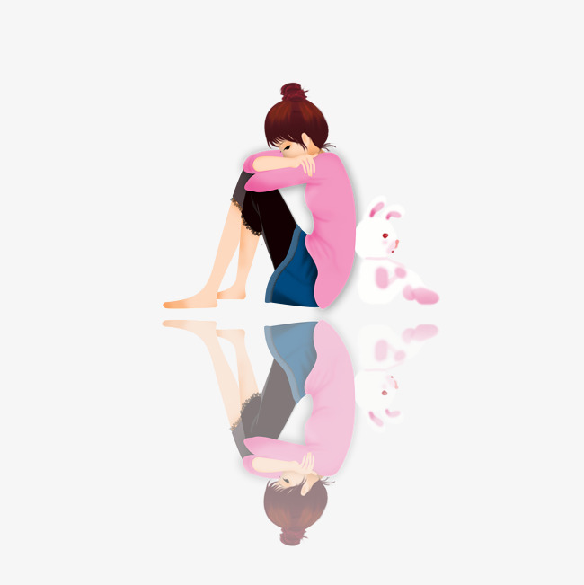 Sad woman alone clipart svg library download Lonely Girl Clipart svg library download