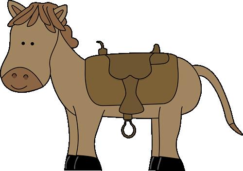 Horse saddle clipart picture freeuse Horse with Saddle Clip Art - Horse with Saddle Image ... picture freeuse