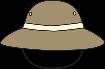 Safari hat clipart png stock Brown Safari Hat Clip Art | Clipart Panda - Free Clipart Images png stock