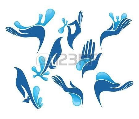 Safe hands clipart svg royalty free library safe hands: collection of clean women hands and fresh water ... svg royalty free library