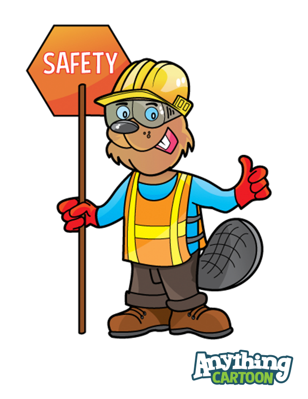 Safety cartoon clipart picture black and white Free Safety Cartoon Posters And Safety Clipart | Anything ... picture black and white