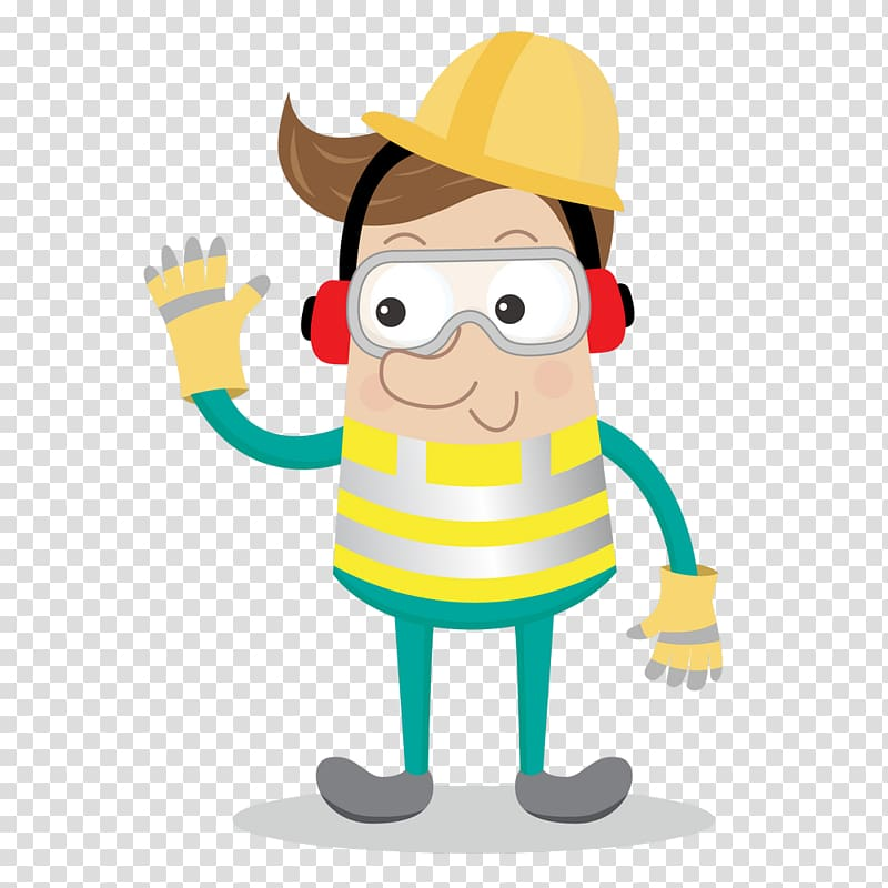 Safety cartoon clipart jpg library Cartoon Personal protective equipment Occupational safety ... jpg library