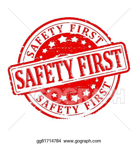 Safety first pink clipart graphic freeuse stock Stock Illustration - Damaged round red stamp with the word ... graphic freeuse stock