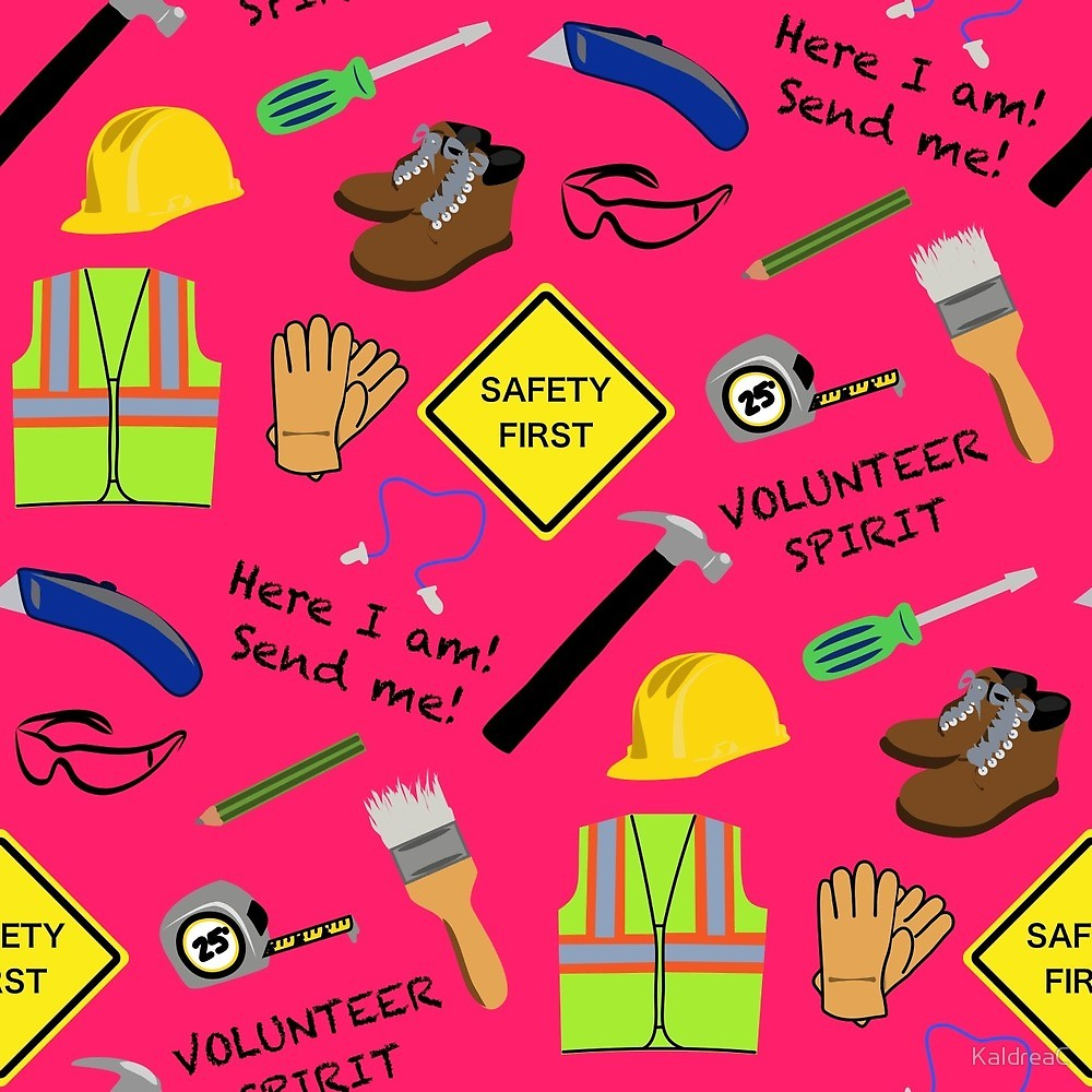 Safety first pink clipart picture black and white download Pink safety first volunteer construction \