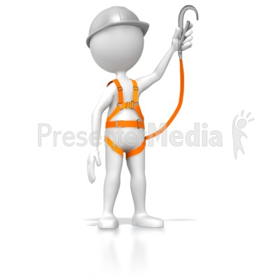 Safety harness clipart vector freeuse library Stick Figure Wearing Safety Harness - 3D Figures - Great ... vector freeuse library