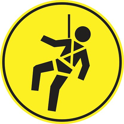 Safety harness clipart clip freeuse library Safety Harness Signs premium clipart - ClipartLogo.com clip freeuse library