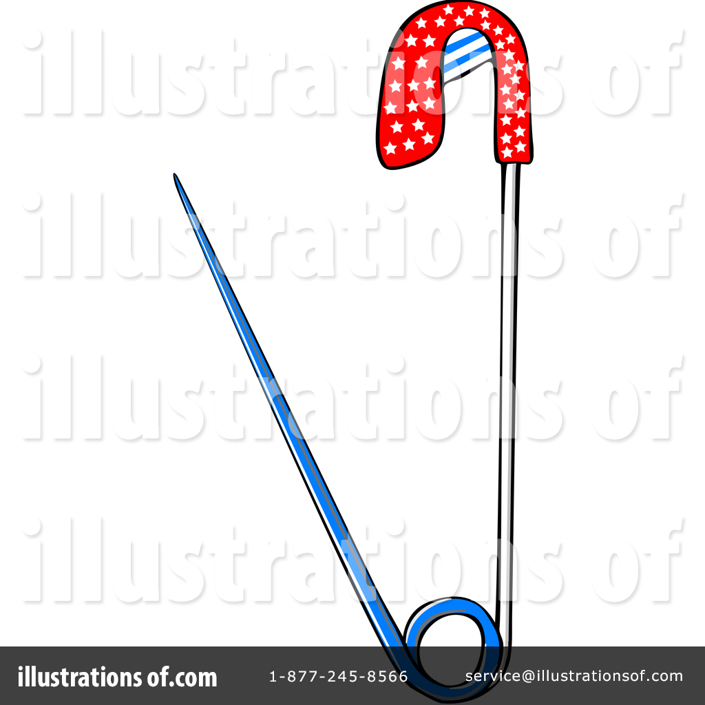 Safety pin solidarity clipart